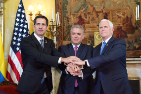 The three musqueteers: Guaidó, Duque and Pence