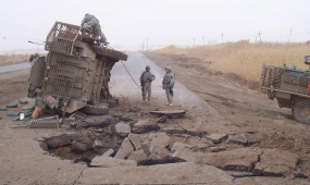 Road side bomb, Iraq