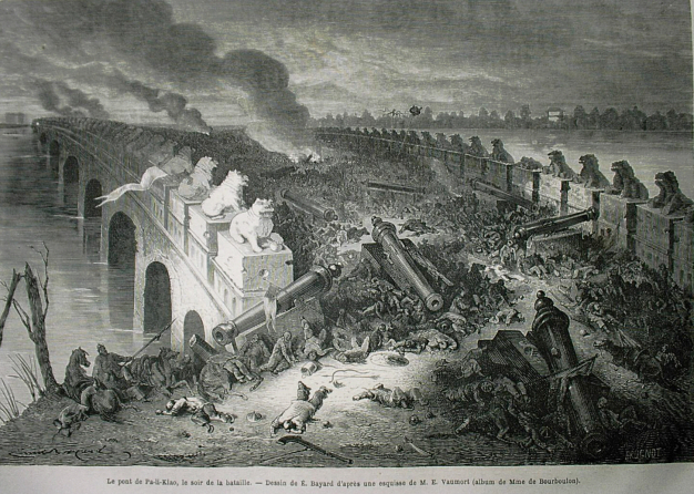 The British-French burning and looting of the imperial palace in Beijing in 1860 during the second opium war.